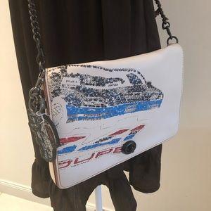 Coach Car Dinky 32 Leather Crossbody Bag